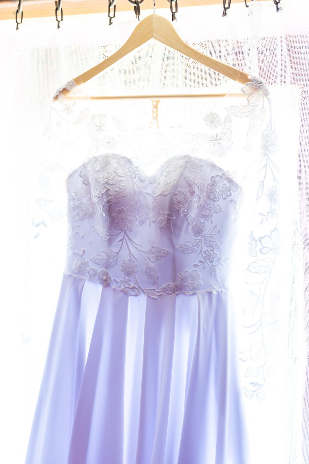 Svadobné šaty s dlhými rukávmi  - Obrázok č. 2
