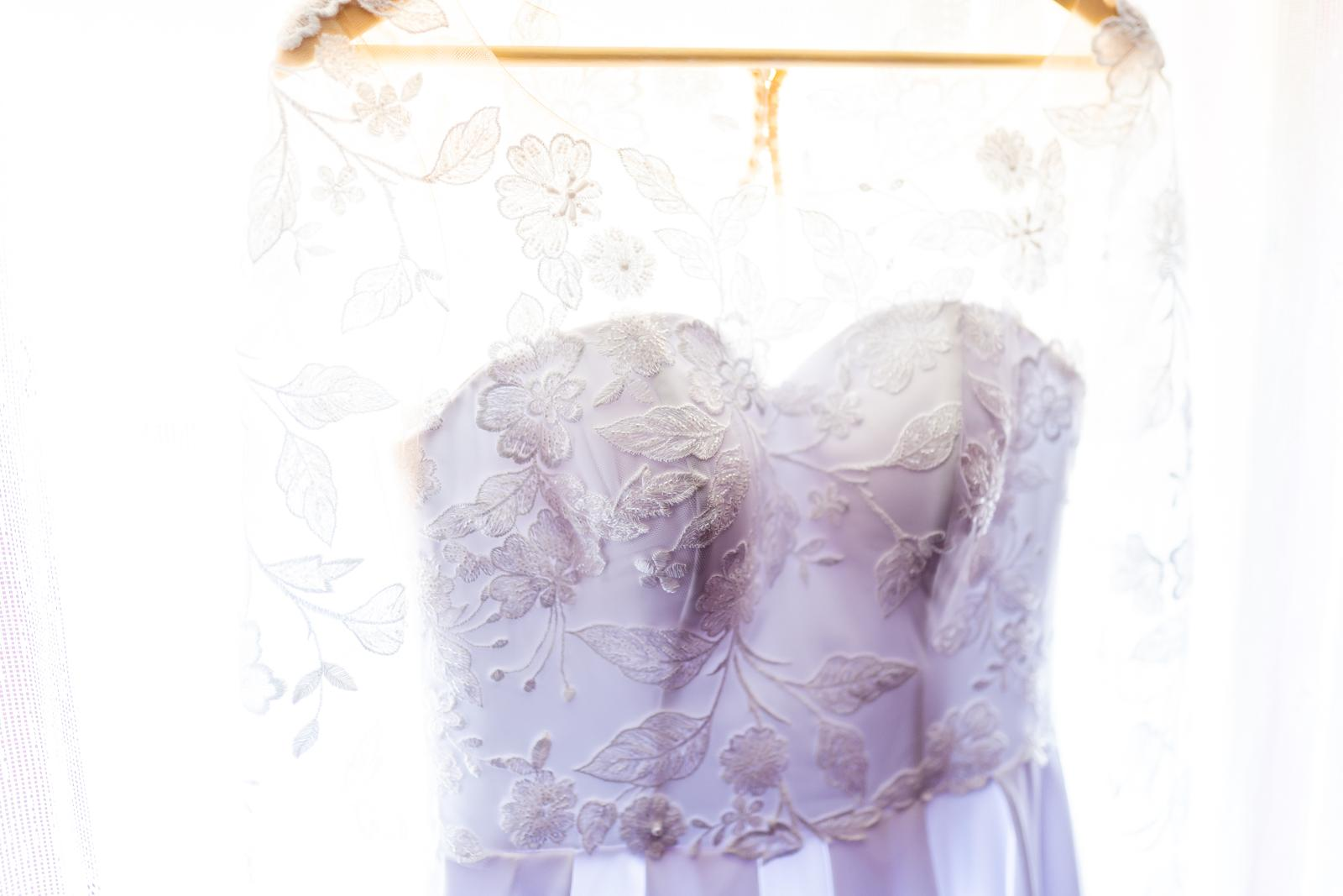 Svadobné šaty s dlhými rukávmi  - Obrázok č. 3