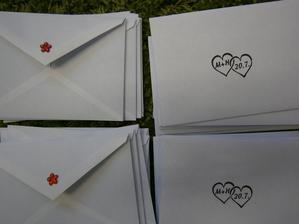 obálky na oznámení
