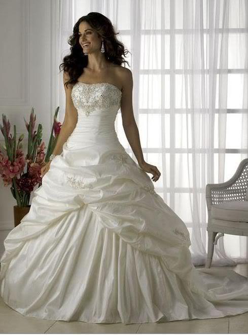 Svatební šaty skladem-prodej - vel.46-3200kč