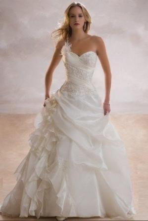 Svatební šaty skladem-prodej - Vel.36-nyní cena 3000kč-SLEVA