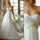 svatební šaty  šampaň, 38