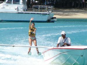 já na vodních lyžích.-)