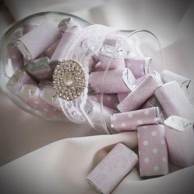 Wedding planning :-) - uzasne dekoracne zabalene cukricky...