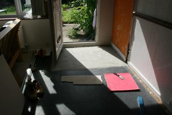 Nivelacka na verande