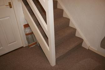 Takove hezke schody to byly. Potazene novym kobecem.