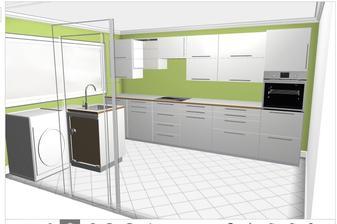 druha varianta, jeste na stene vedle dveri vlevo (co je pracka) je v planu skrinka se shozem pradla z koupelny v prvnim patre.