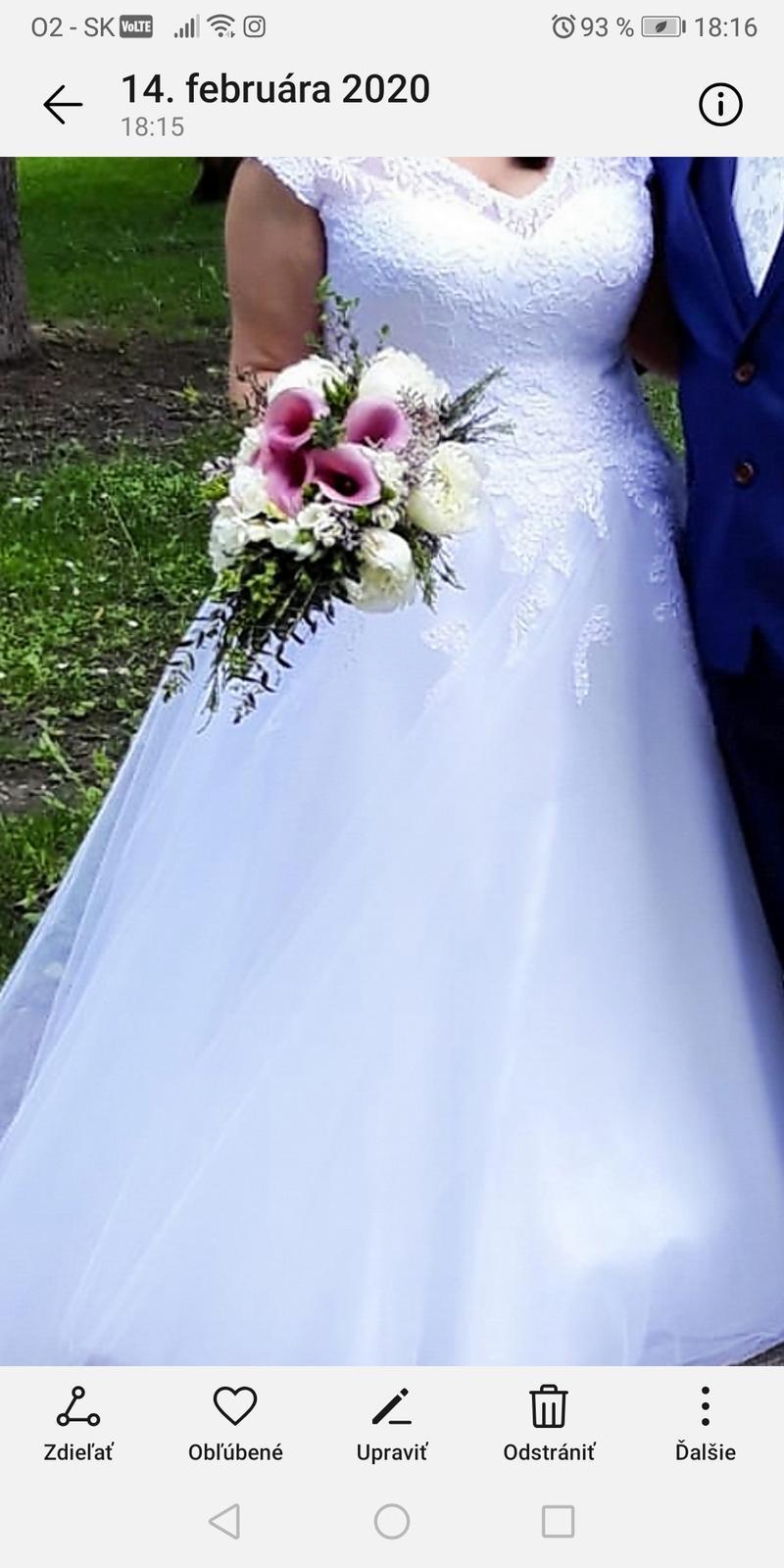 Svadobné šaty snehobiele - Obrázok č. 4