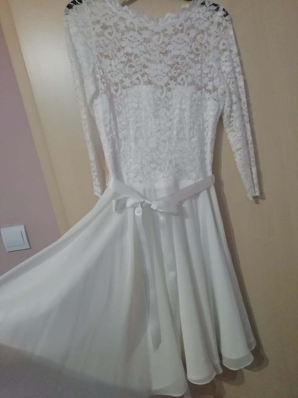 kratke svadobne šaty SWING - Obrázok č. 1