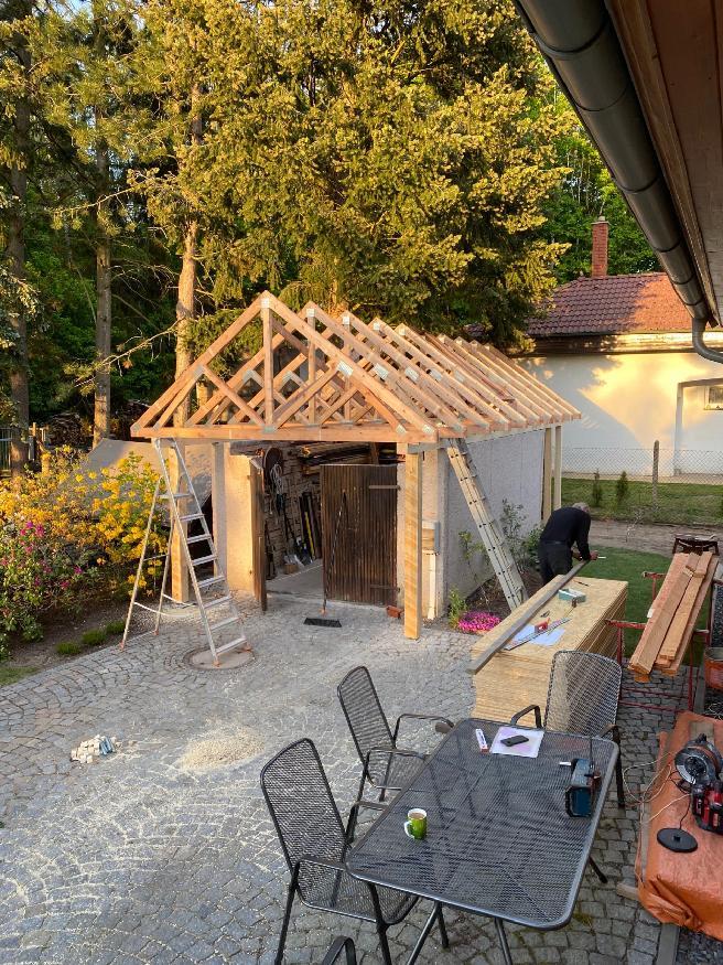Garáž  + kůlny na dřevo a nářadí - Obrázek č. 8