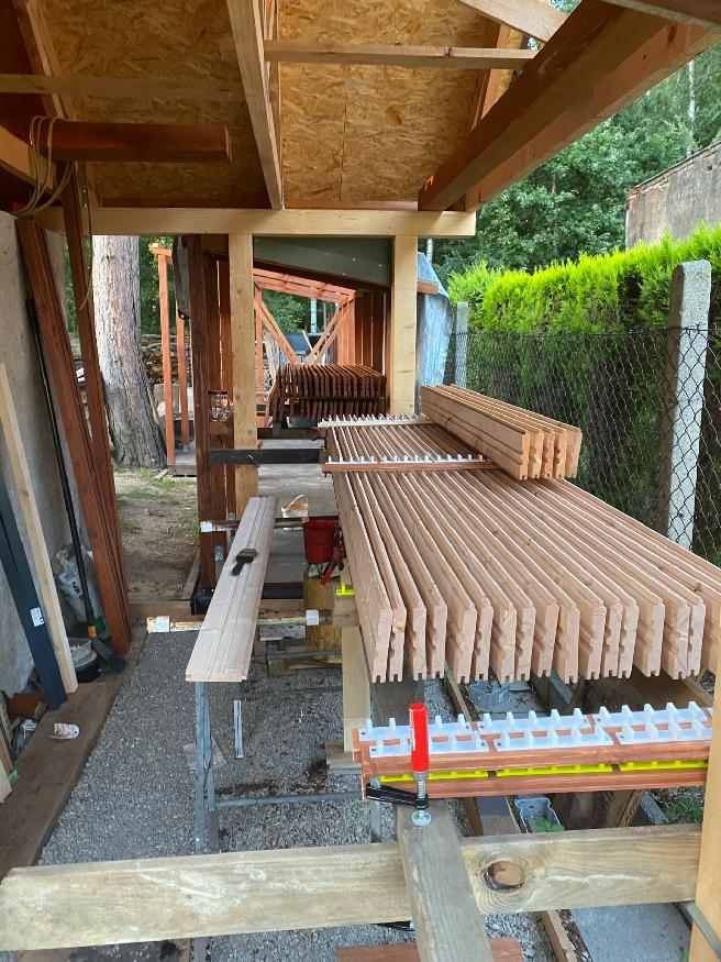 Garáž  + kůlny na dřevo a nářadí - Obrázek č. 20