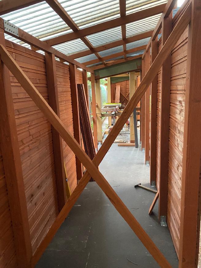 Garáž  + kůlny na dřevo a nářadí - Obrázek č. 26