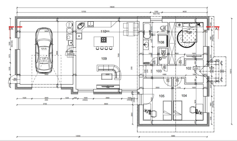 Rekonštrukcia a prístavba - Nový pôdorys