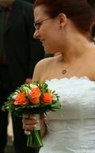 Paní Kreidlová s kyticí :)
