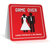 Svadobné oznámenie Game over magnetka,