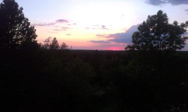 Prvý západ slnka z budúcej spálne