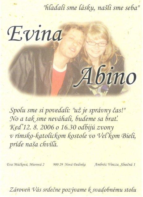 12.8.2006 - co uz mame - naša pozvánka