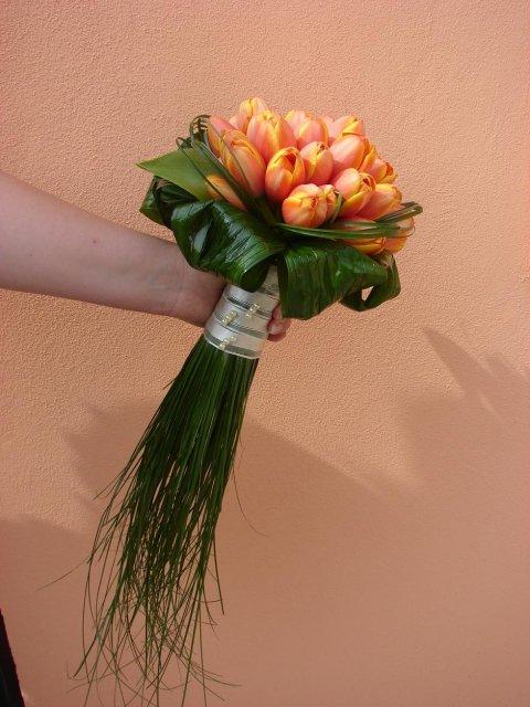 Svadobna kytica z tulipánov - Obrázok č. 6