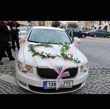Takto bude vyzdobené moje auto :) Organza bude bílá, auto bude šedé :)