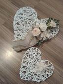 Srdce na auto ženicha a nevěsty,