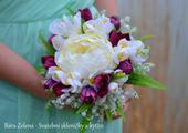 Jarní svatební kytice - konvalinka,