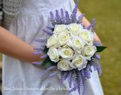 Svatební kytice - vintage levandule,