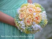 Svatební kytice - žlutá růže ,