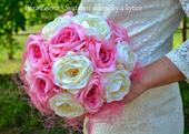 Svatební kytice - Růže  + korsáž,