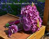 Svatební kytice - Hortenzie + korsáž,