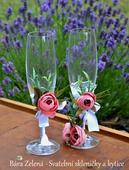 Svatební skleničky pro novomanžele ,