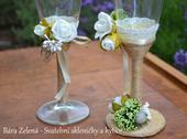 Vintage svatební skleničky ,