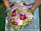 Jemná svatební kytice + korsáž,