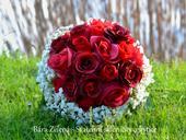 Svatební kytice - červená růže ,