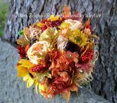 Podzimní svatební kytice,