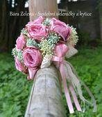 Svatební kytice - krajka ,