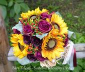 Svatební kytice - slunečnice ,