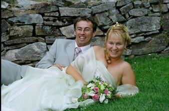 v trávě ... s manželem ...