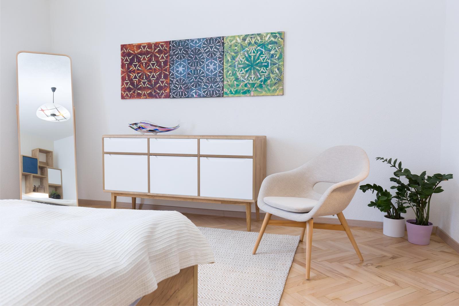Náš zrealizovaný interiér bytu v Banskej Bystrici sme prihlásili do súťaže INTERIÉR ROKU 2017 - komoda v spálni