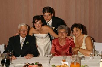 s dedkom, babkou a svokrickou