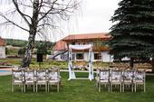 tylová výzdoba na svatební bránu,