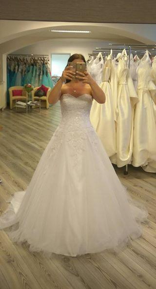 Svatební šaty - Aire Barcelona Marylin, velikost 38 - Obrázek č. 1