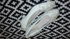 Topánky zdobené čipkou a perličkami, 39