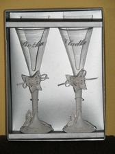 Naše krásne svadobné poháre.