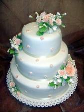 Naša svadobná tortička, len dúfam, že bude takto vyzerať aj na živo...