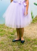 Světle fialová tylová sukně-pro svědkyni,družičku, L