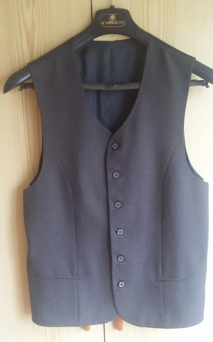 Tmavě šedý pánský oblek - Obrázek č. 4