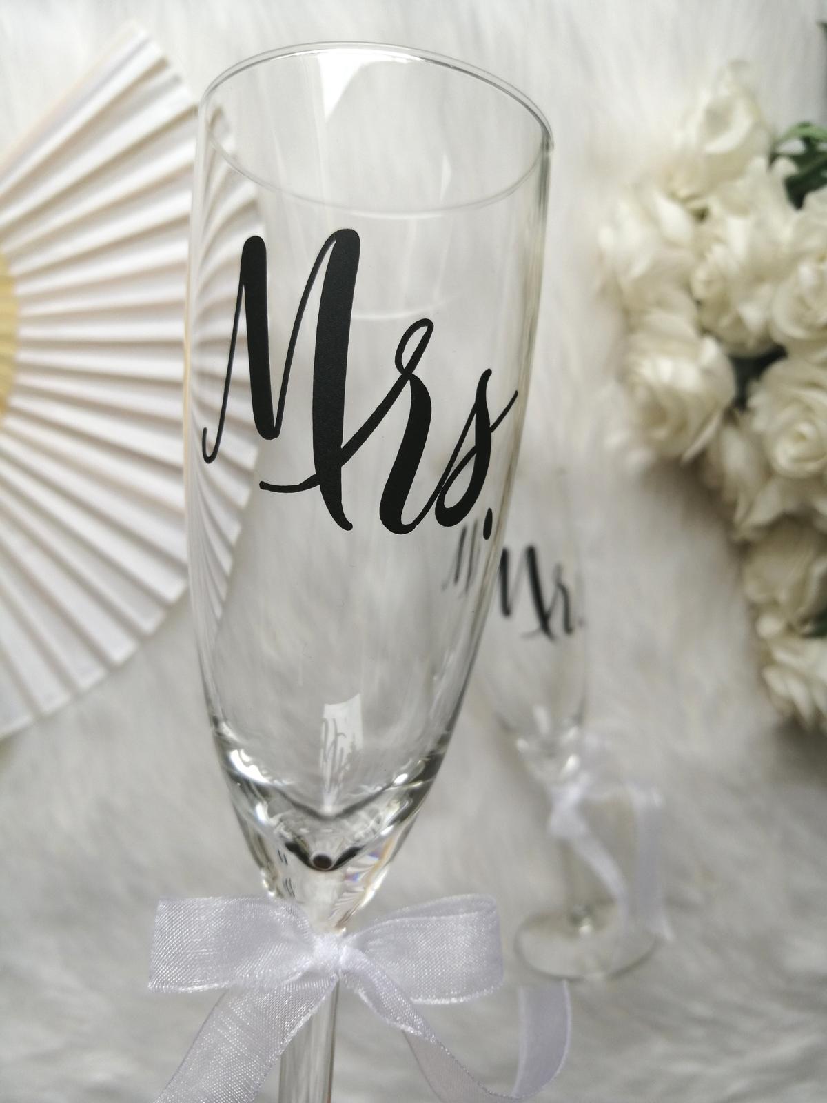 Svadobné poháre MR. a MRS. - Obrázok č. 1