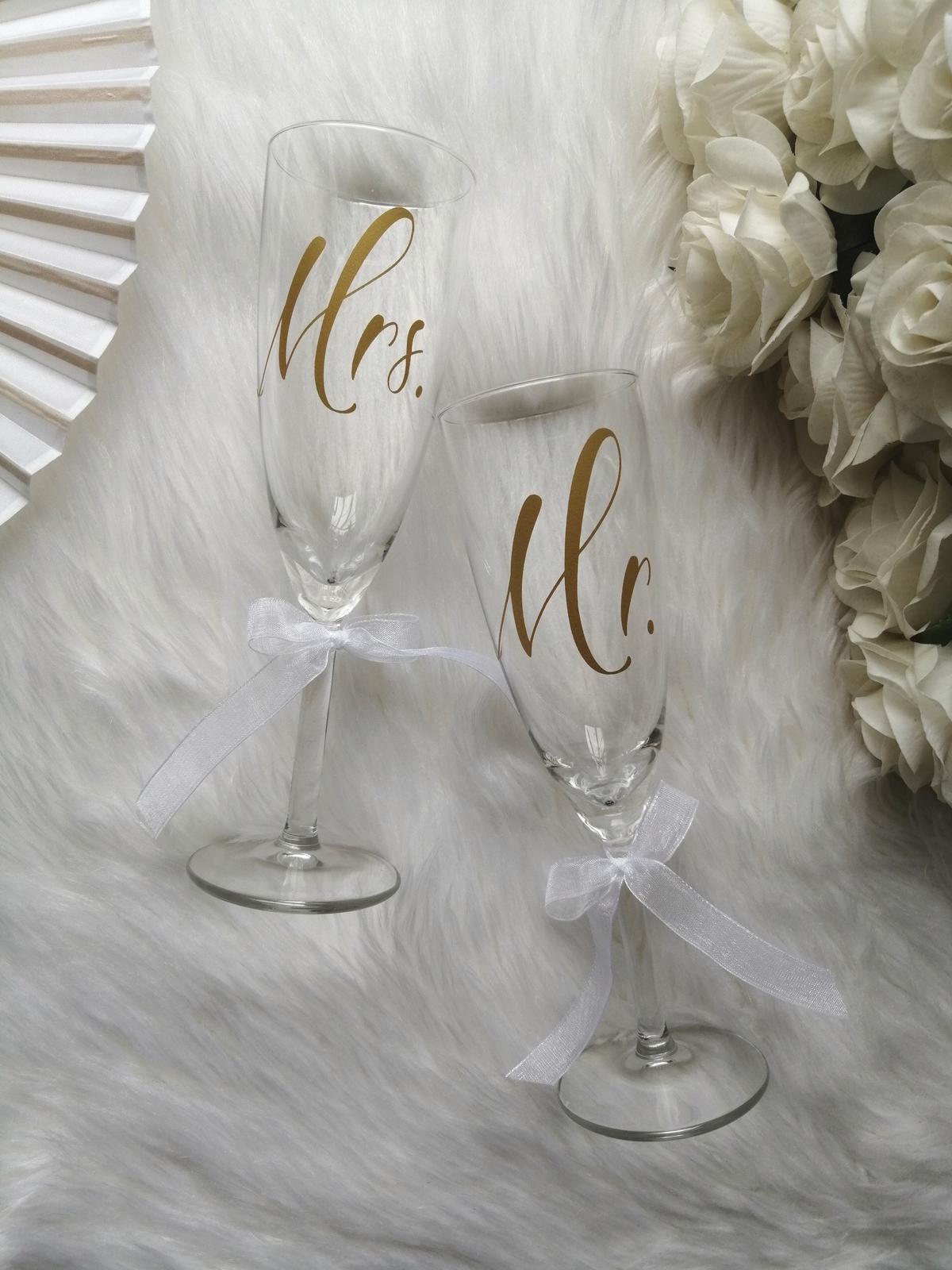 Svadobné poháre MR. a MRS. - Obrázok č. 2