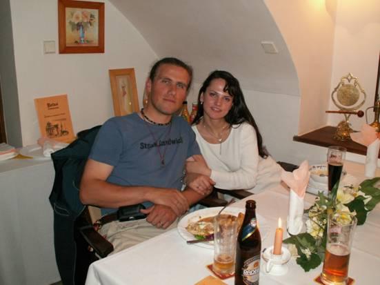 Adriána Brezovská{{_AND_}}Juraj Kleman - veľmi nám večer chutilo po tých nádherných túrach :-)