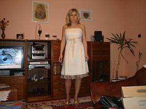 Nevěsta v šatech na převlečení:-)